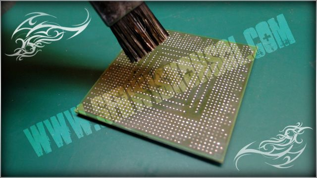 Czyszczenie procesora RSX - przygotowanie do reballingu