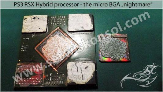 Procesor RSX - rdzeń procesora (kulki MicroBGA)